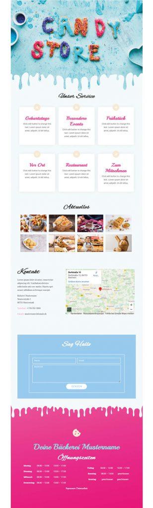 Beispielbild einer Visitenkarte im Web