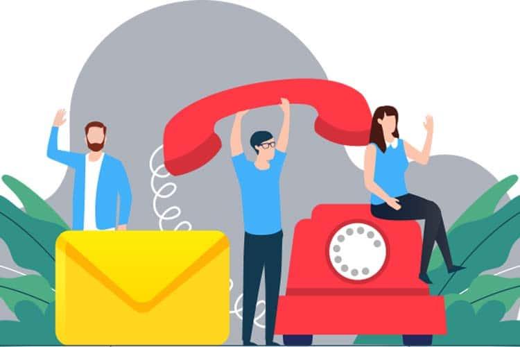 Kontaktformular mit Visitenkarte im Web – Vorteile