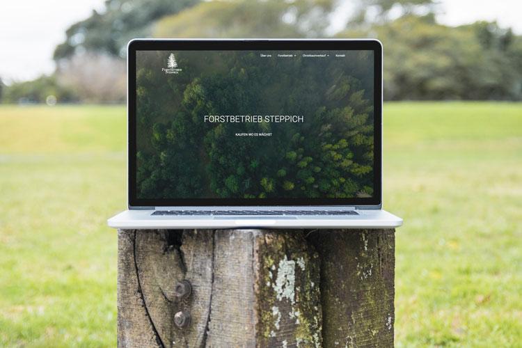 Mockup Webseite Forstbetrieb Steppich