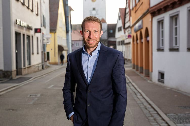 Fotoshooting Bürgermeister Thomas heydecker